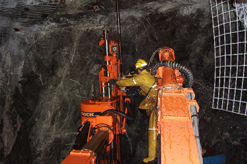 Rock grouting in underground mine