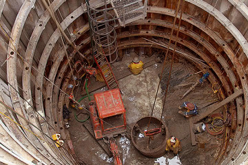 deep shaft construction