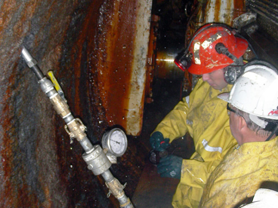 tunnel recovery by cement grouting