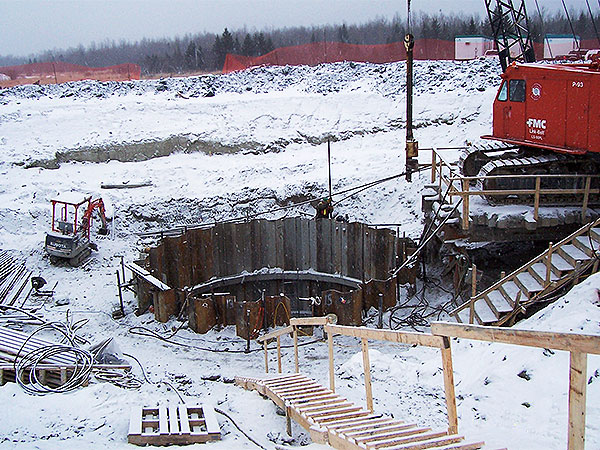 Consolidation grouting for Shaft Collar Construction