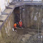 deep shaft construction jobsite