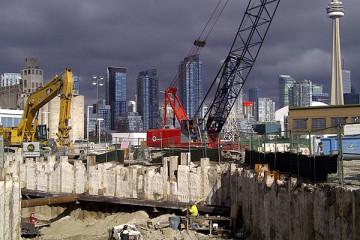 deep shaft construction jobsite toronto